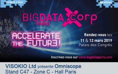 Avizua sur le stand de Visokio Ltd au salon BigData Paris 2019 pour présenter le nouvel Omniscope