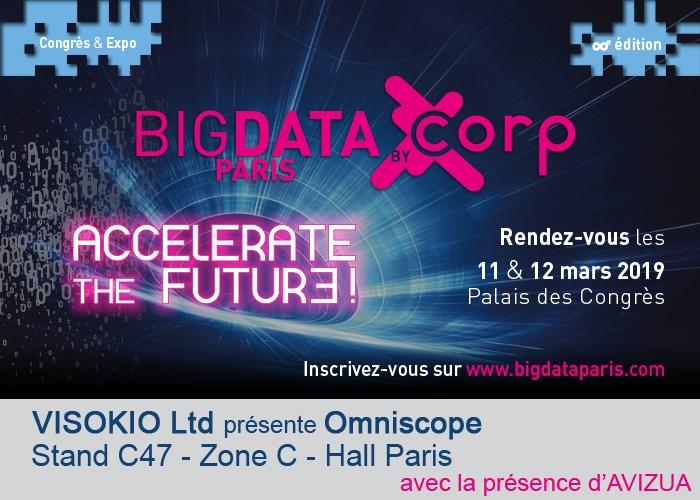 Avizua sur le stand de Visokio au salon BigData Paris 2019